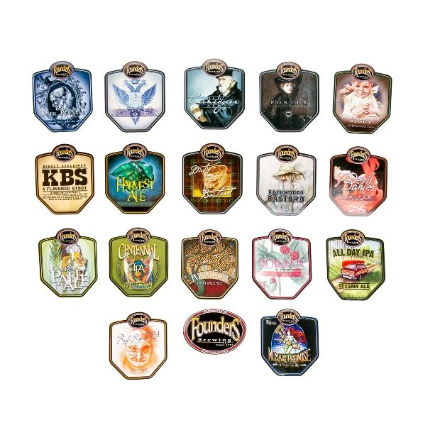Founders beer badges