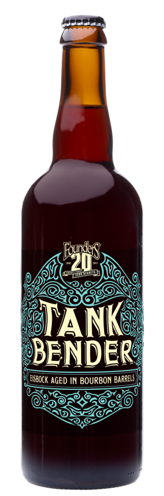 Founders Tank Bender beer bottle