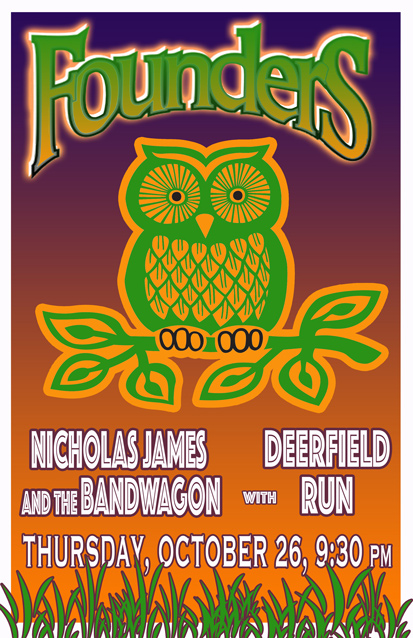 Nicholas James and the Bandwagon band poster