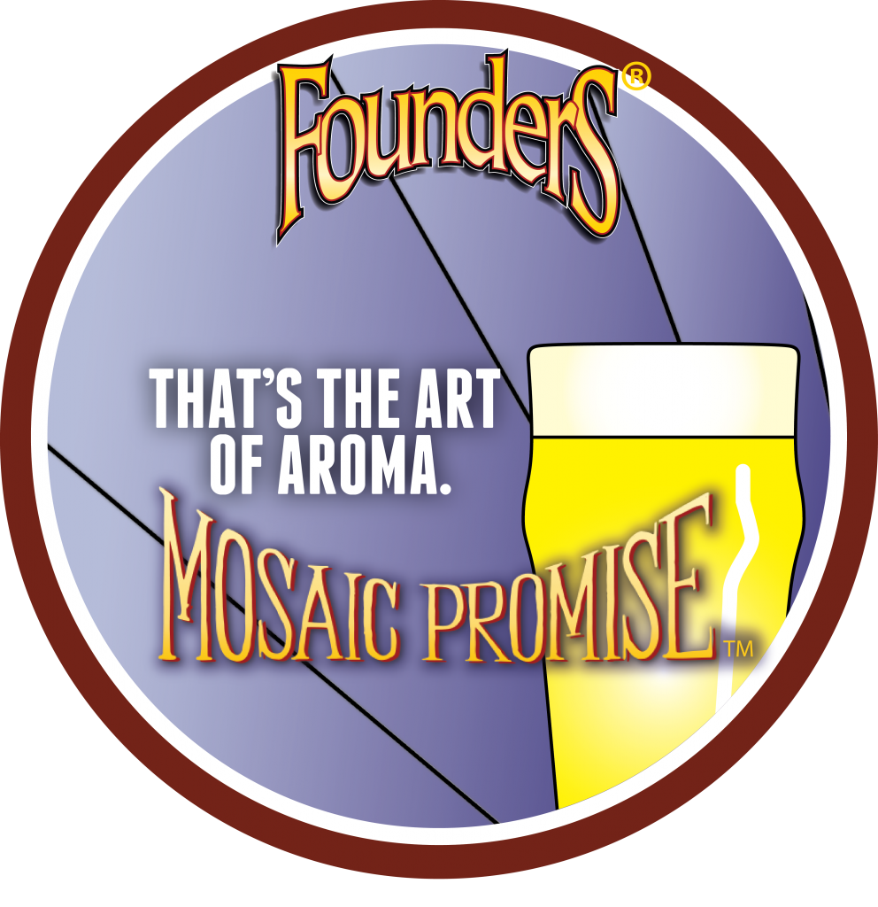 Founders Mosaic Promise Untappd Badge
