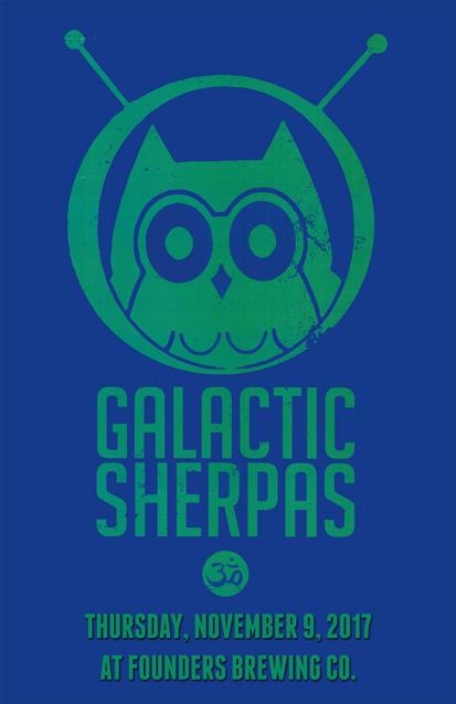 Galactic Sherpas band poster