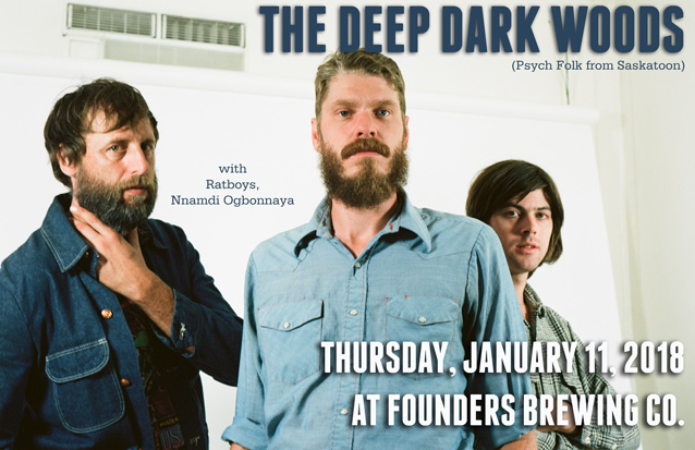 The Deep Dark Woods band poster