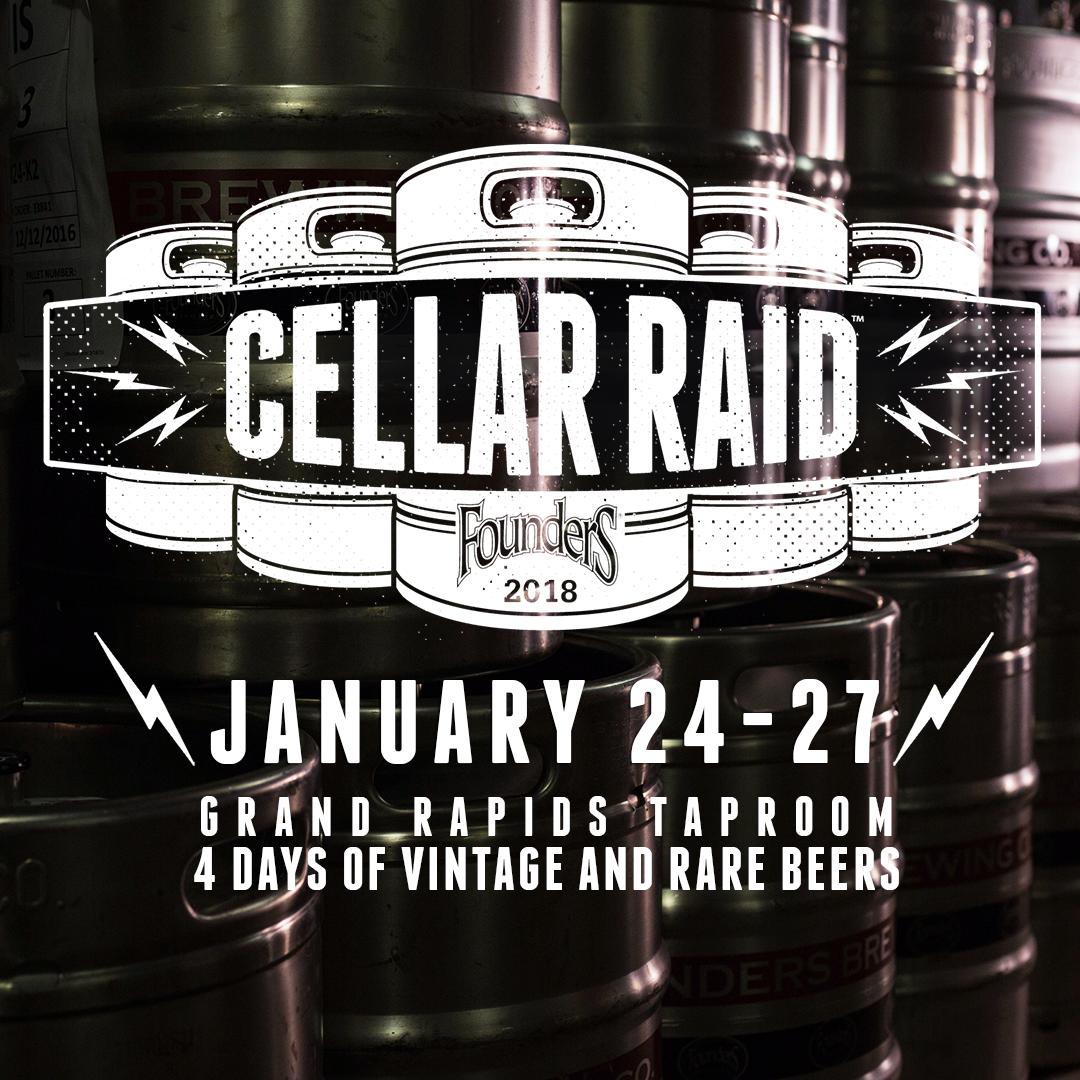 Founders Cellar Raid poster