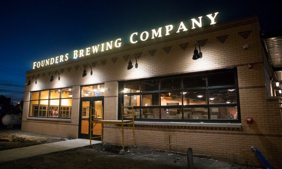 Outside view of Founders Detroit taproom
