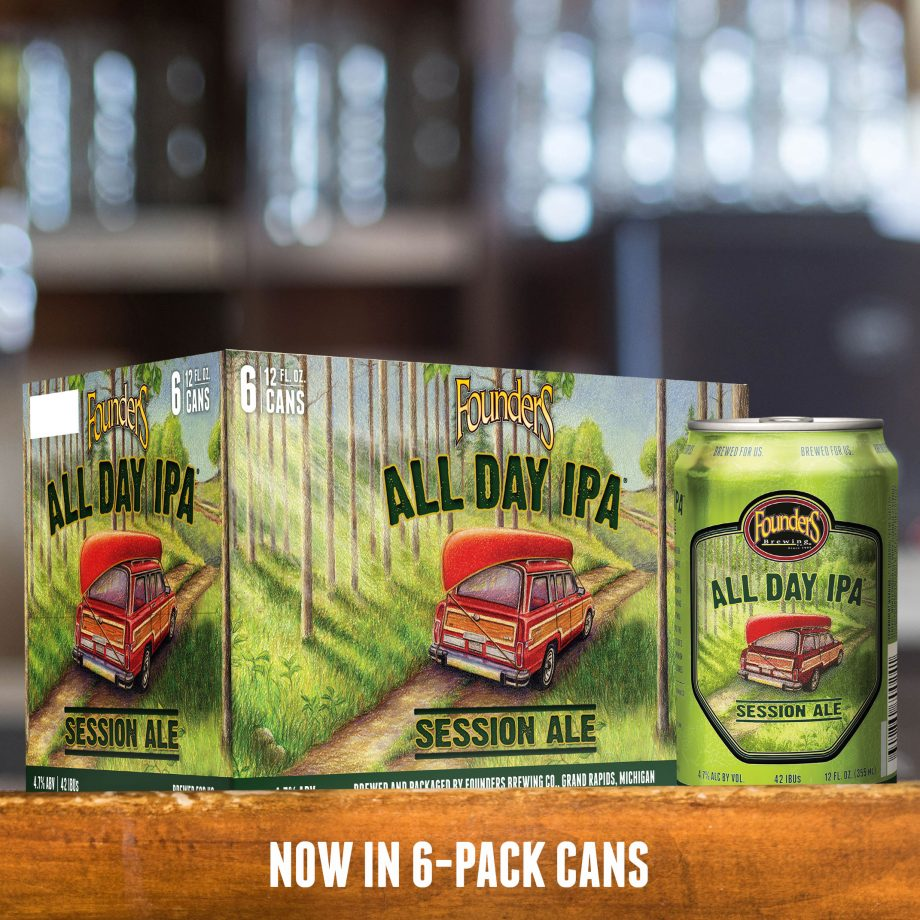 Founders All Day IPA 6 pack of cans