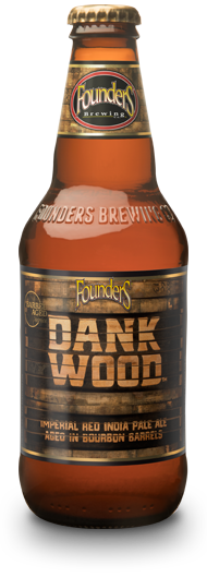 Bottle of Founders Dank Wood