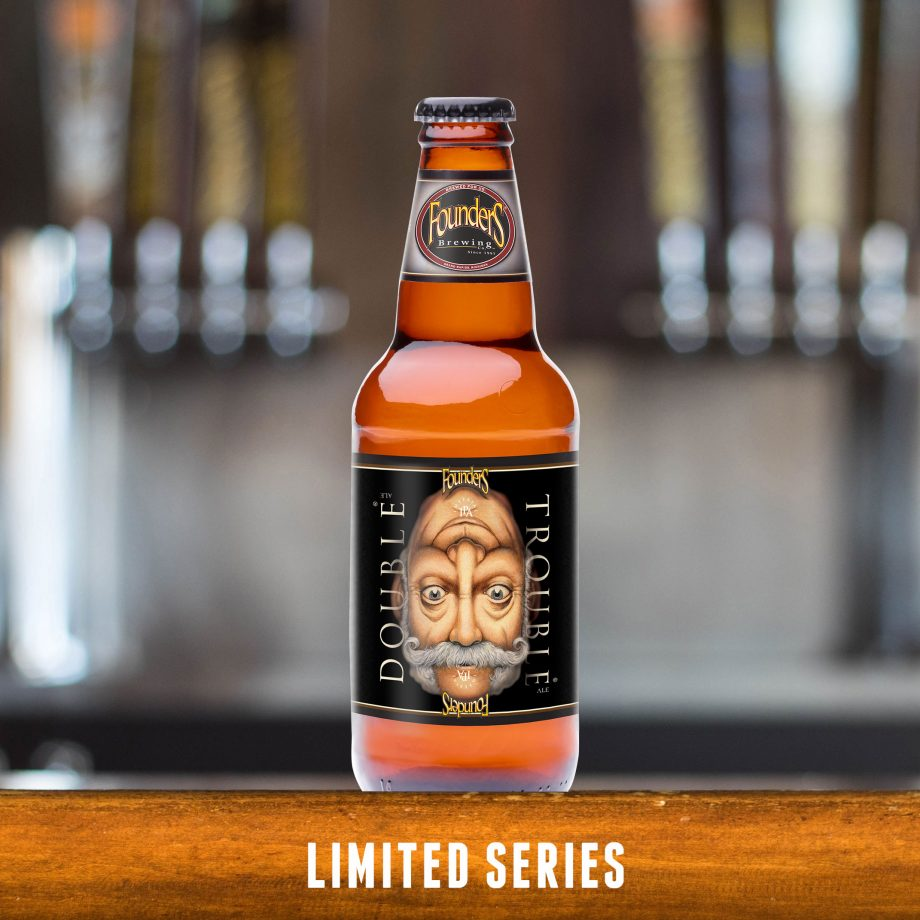 Founders Double Trouble beer bottle