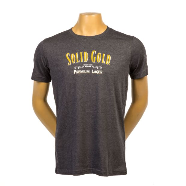 Solid Gold Charcoal Grey Shirt on mannequin