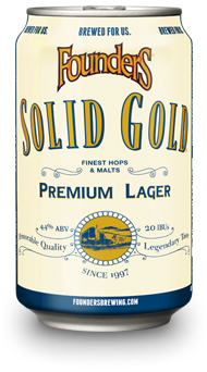 Founders Solid Gold beer can