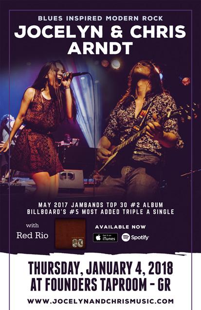 Founders promotion poster for Jocelyn & Chris Arndt band