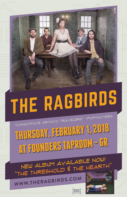 Founders promotion poster for The RagBirds band