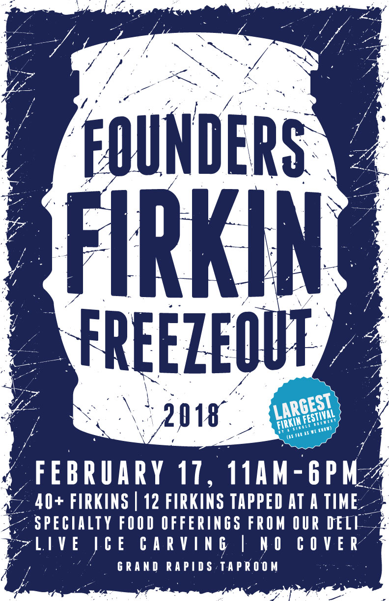 Founders Firkin Freezeout event poster