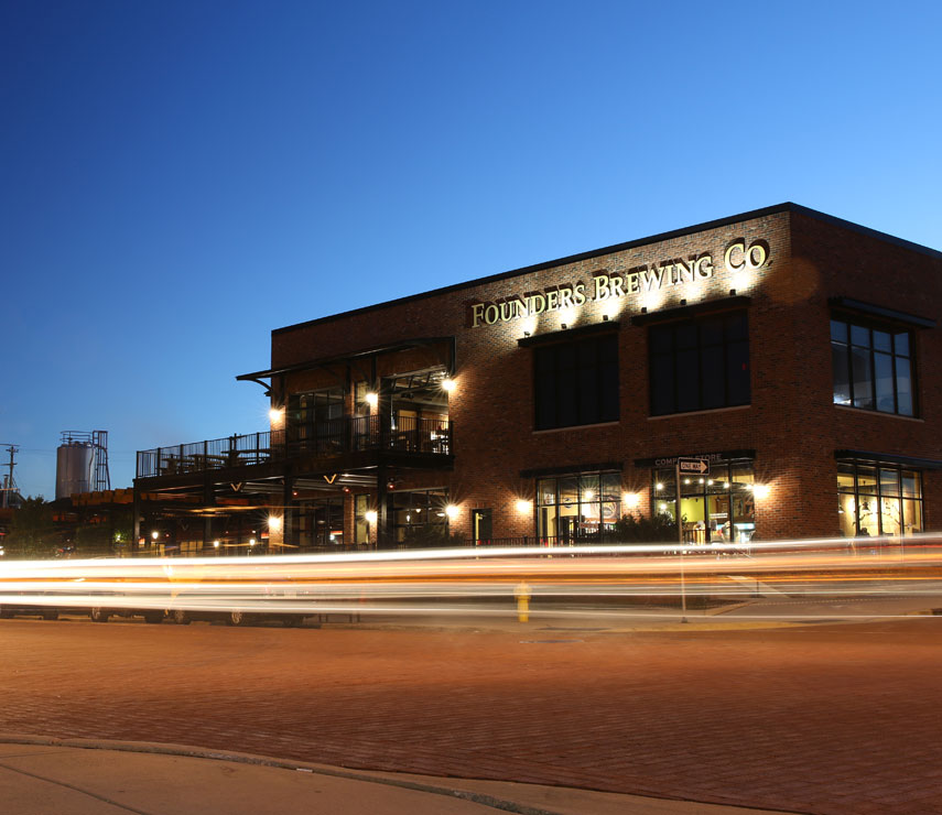 Outside view of Founders Grand Rapids Taproom