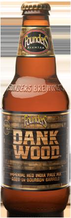 Founders Dank Wood beer bottle