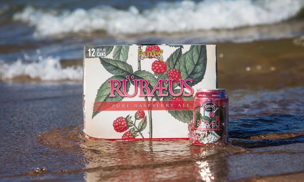 12 pack of Rübaeus sitting on the beach