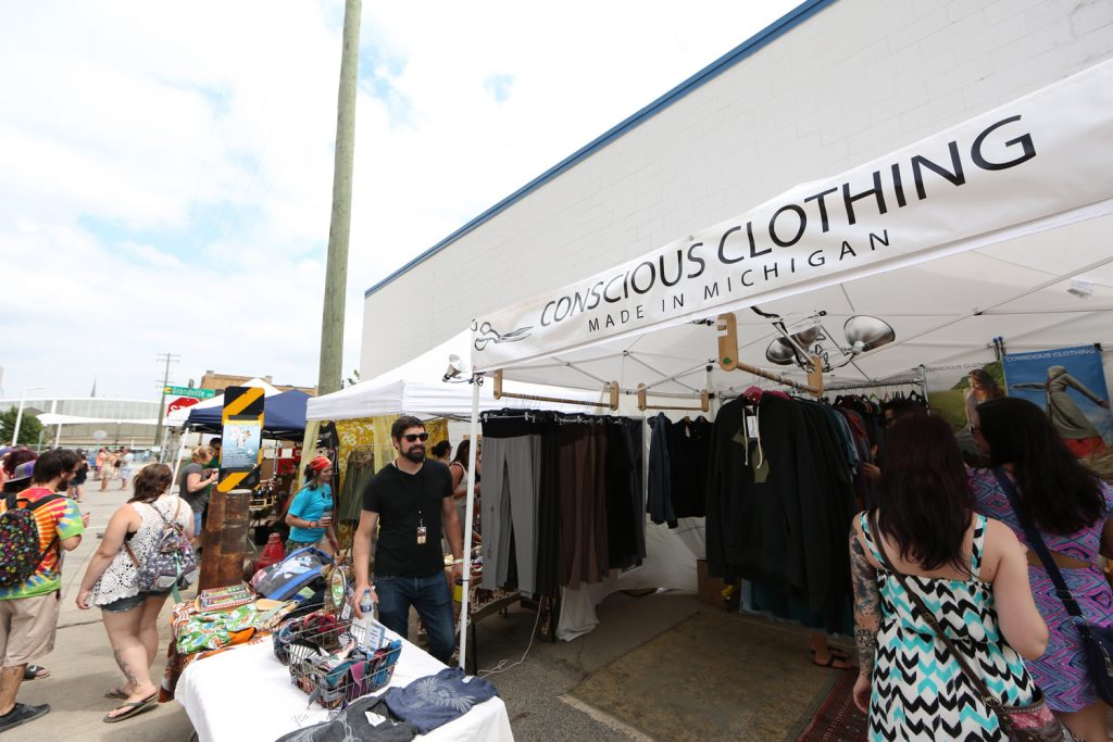 Conscious Clothing Tent at Founders Fest