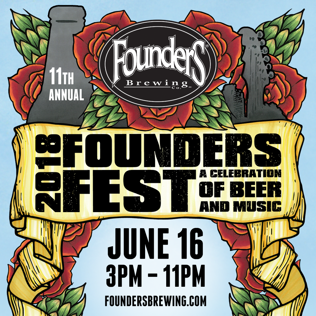 2018 Founders Fest A Celebration of Beer and Music event banner