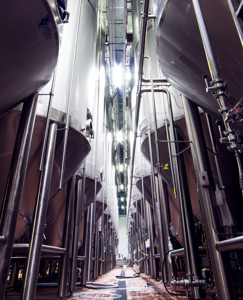 Inside brewing facility