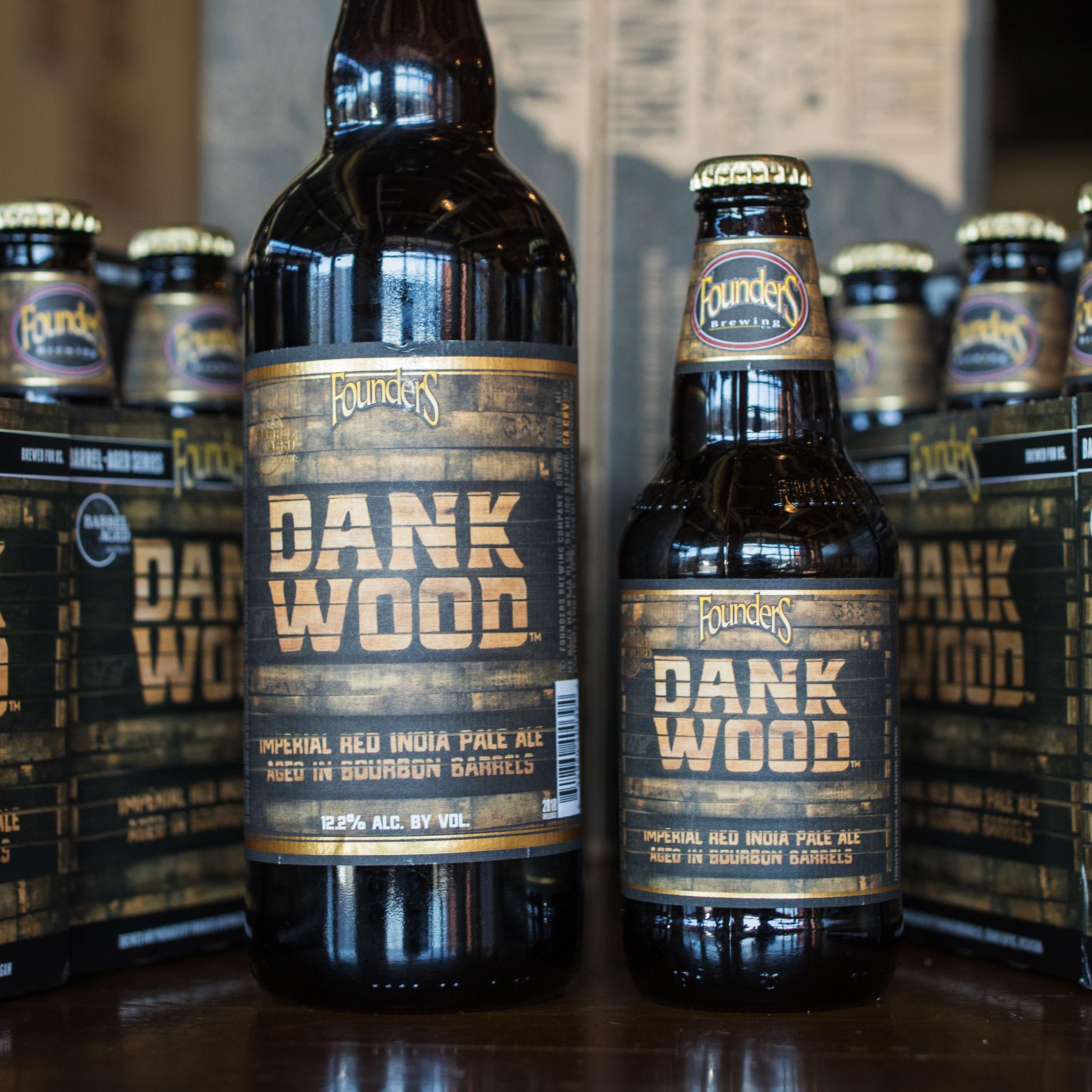 Bottles of Founders Dank Wood