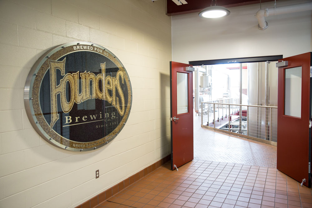 Doors to Founders Brewery