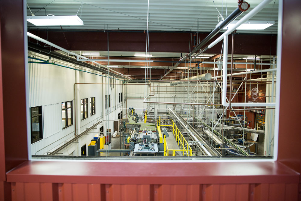 Overhead view of inside Founders Brewery