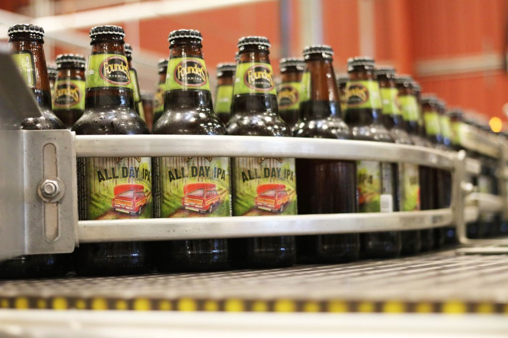 Bottles of Founders All Day IPA