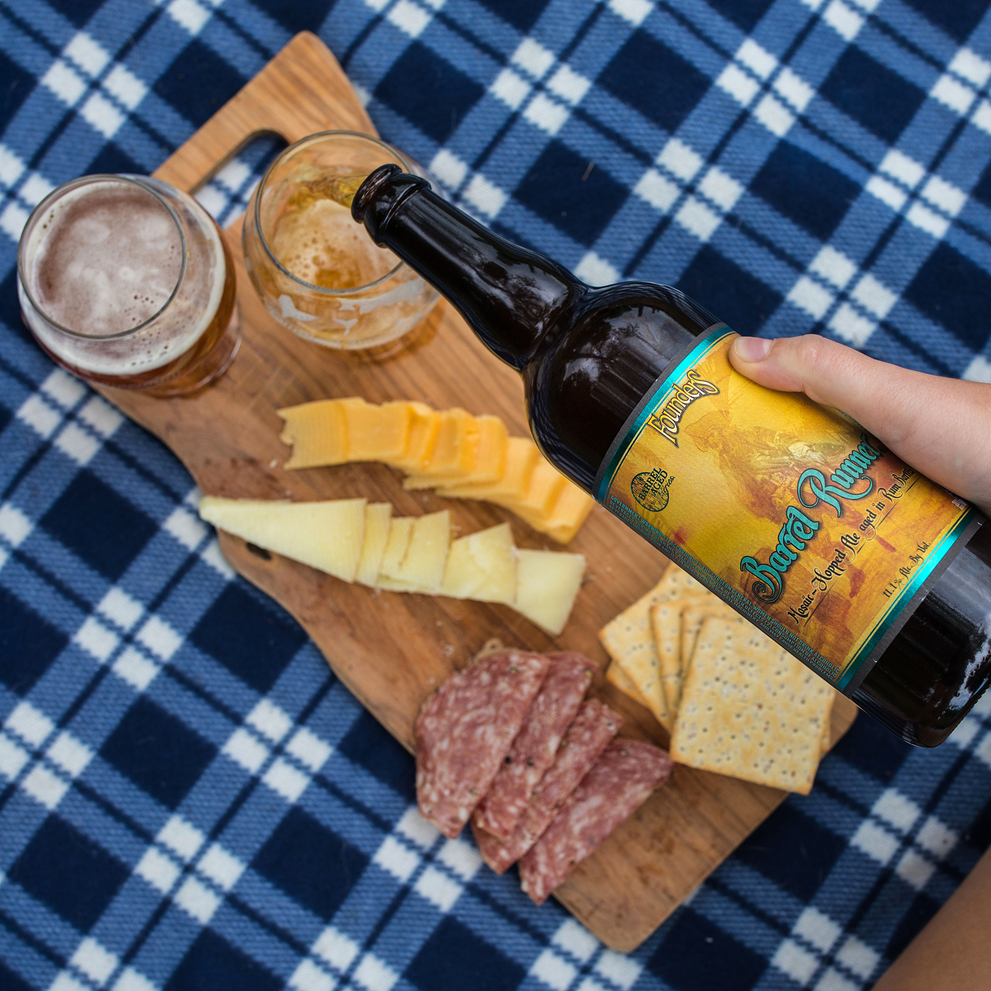 Founders Barrel Runner and charcuterie board