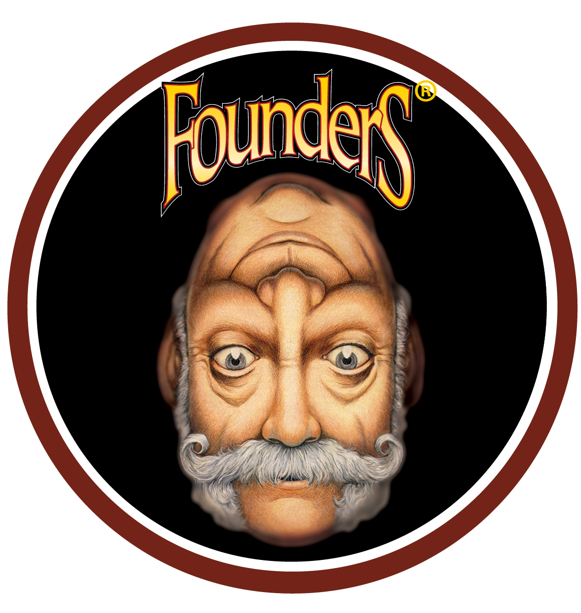 Founders Double Trouble beer badge