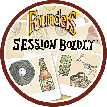 Founders Session Boldly beer badge