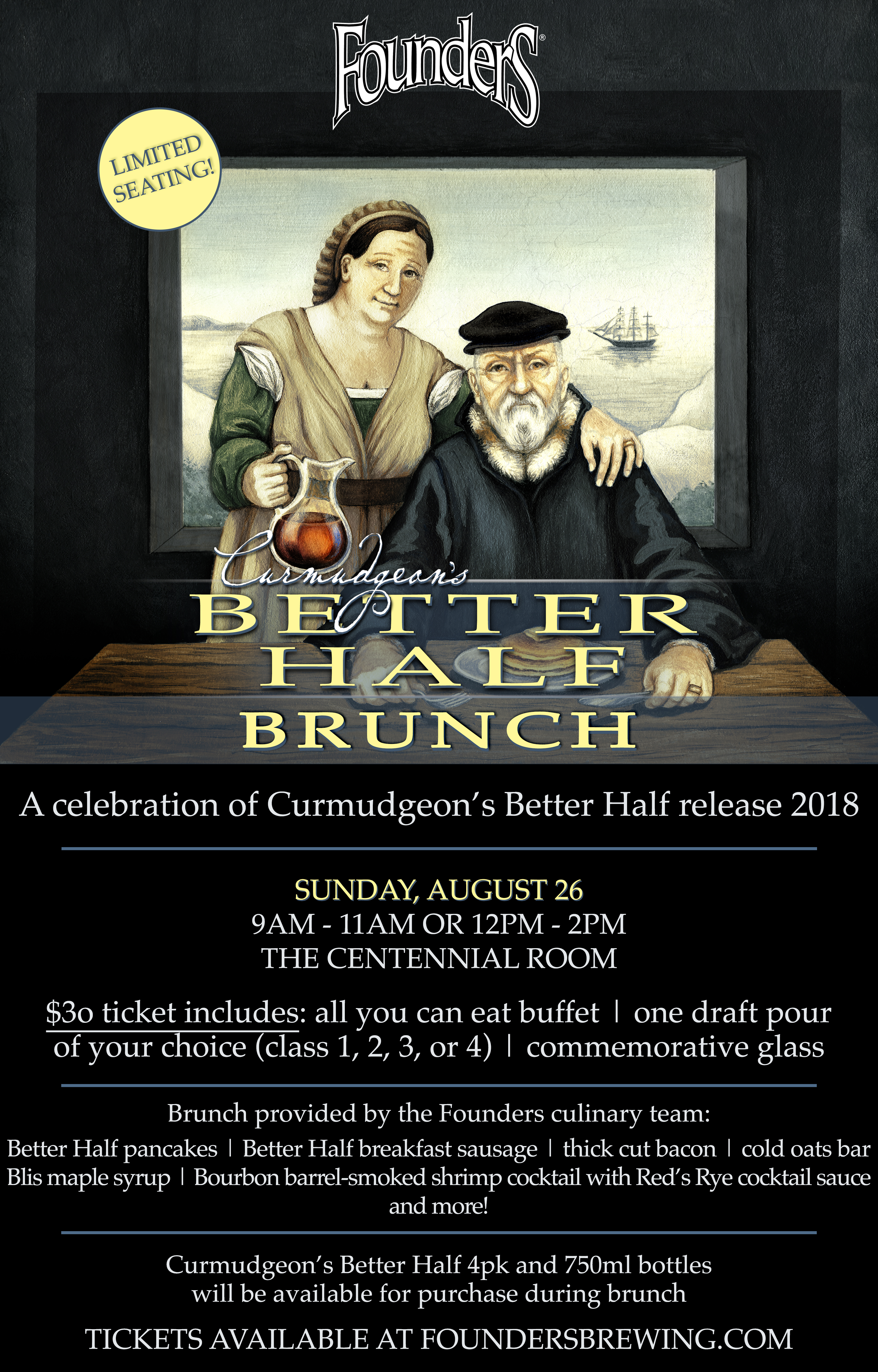 Founders Better Half Brunch event poster