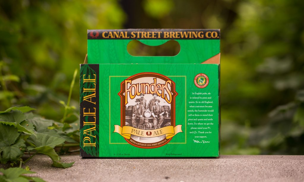 Canal Street Brewing Co. Packaging with Founders Pale Ale