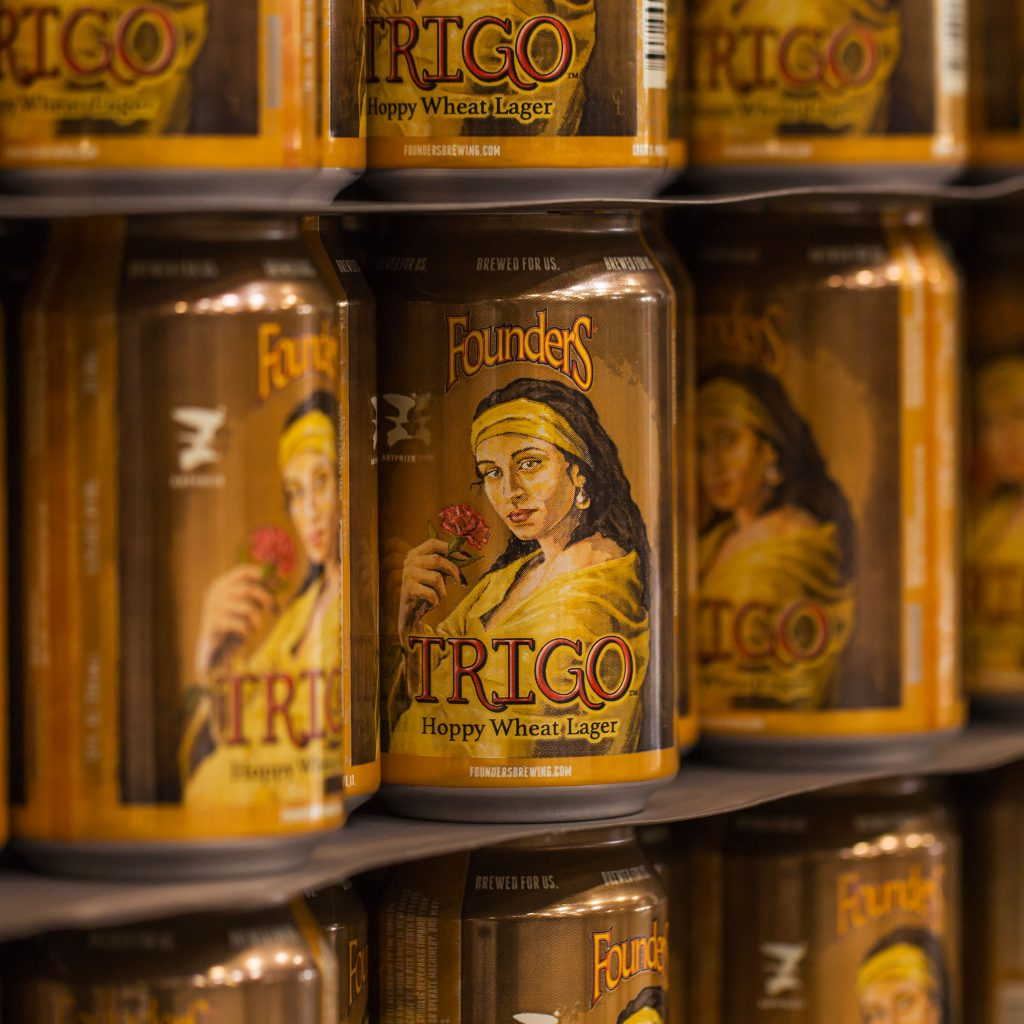Cans of Founders Trigo
