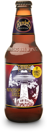 Bottle of Founders Mothership Series MF Donkey Stout