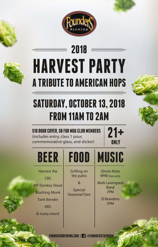 Founders 2018 Harvest party event poster