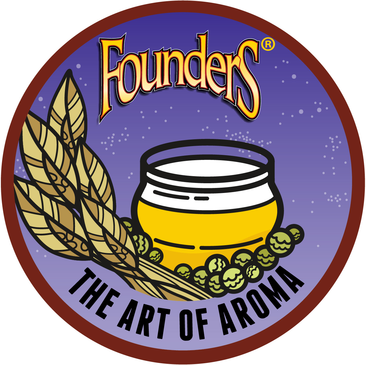 Founders The Art of Aroma beer badge