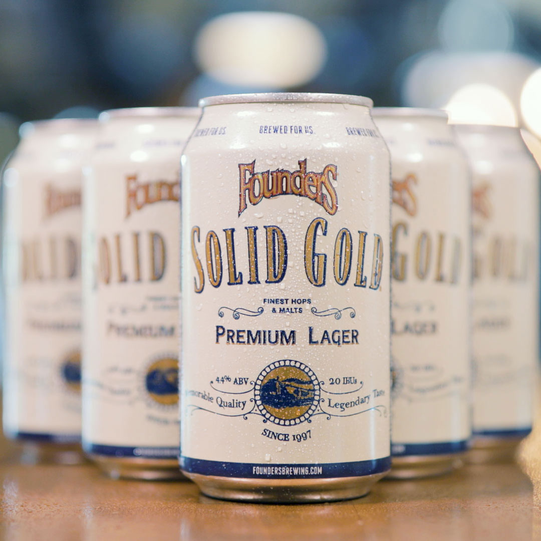 Cans of Founders Solid Gold
