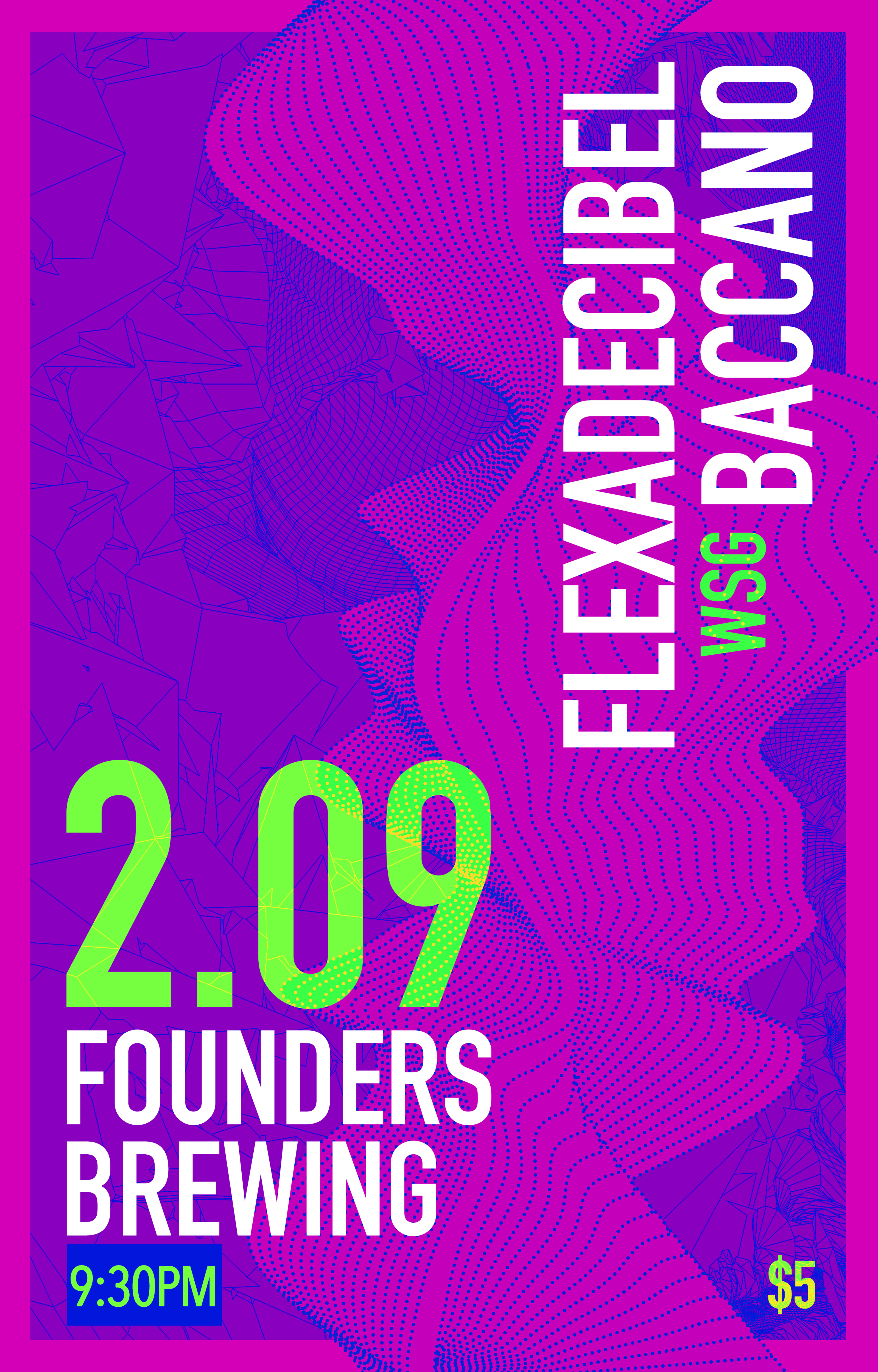 Flexadecible Baccano event poster