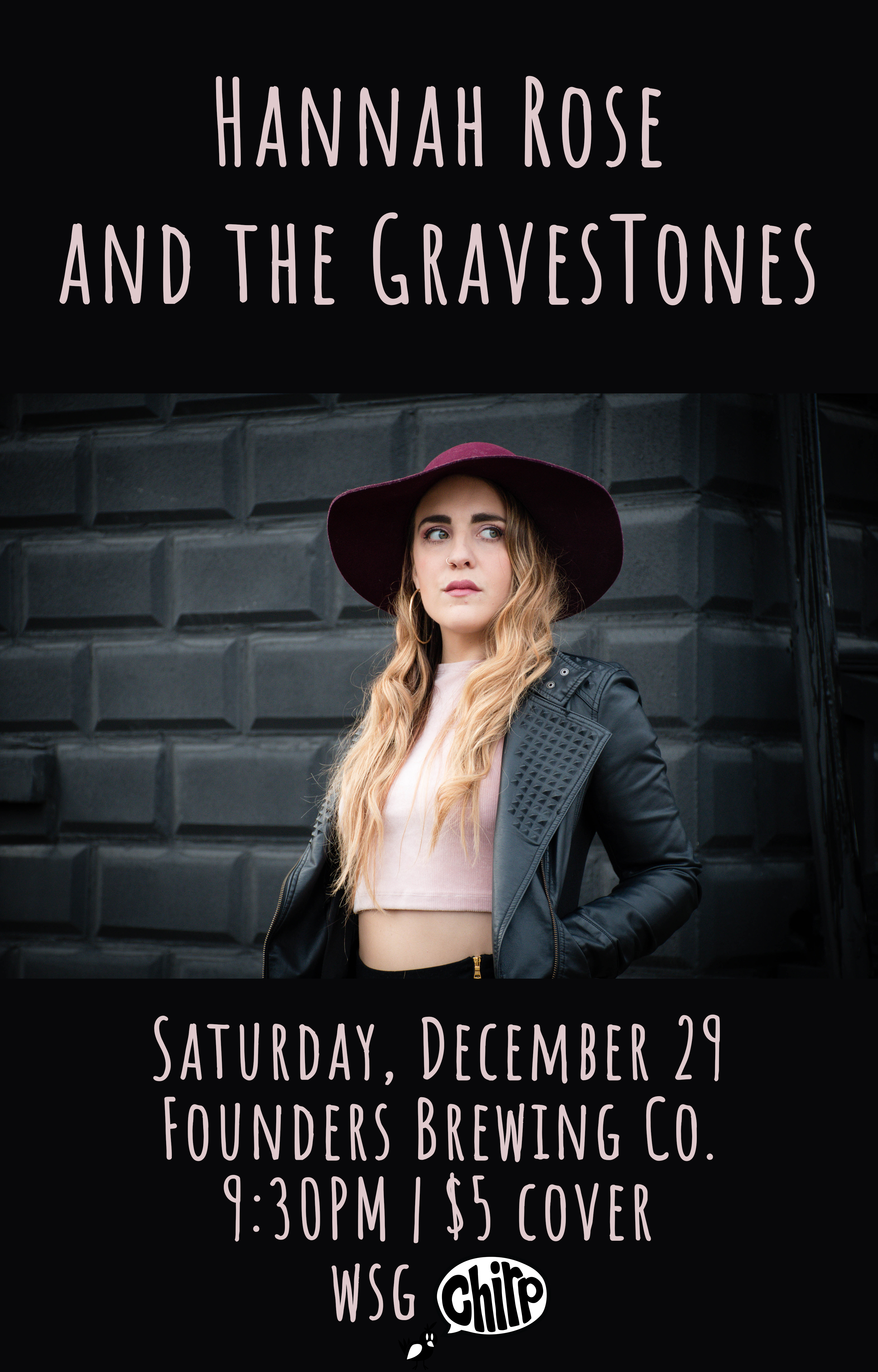 Hannah Rose and The Gravestones event poster