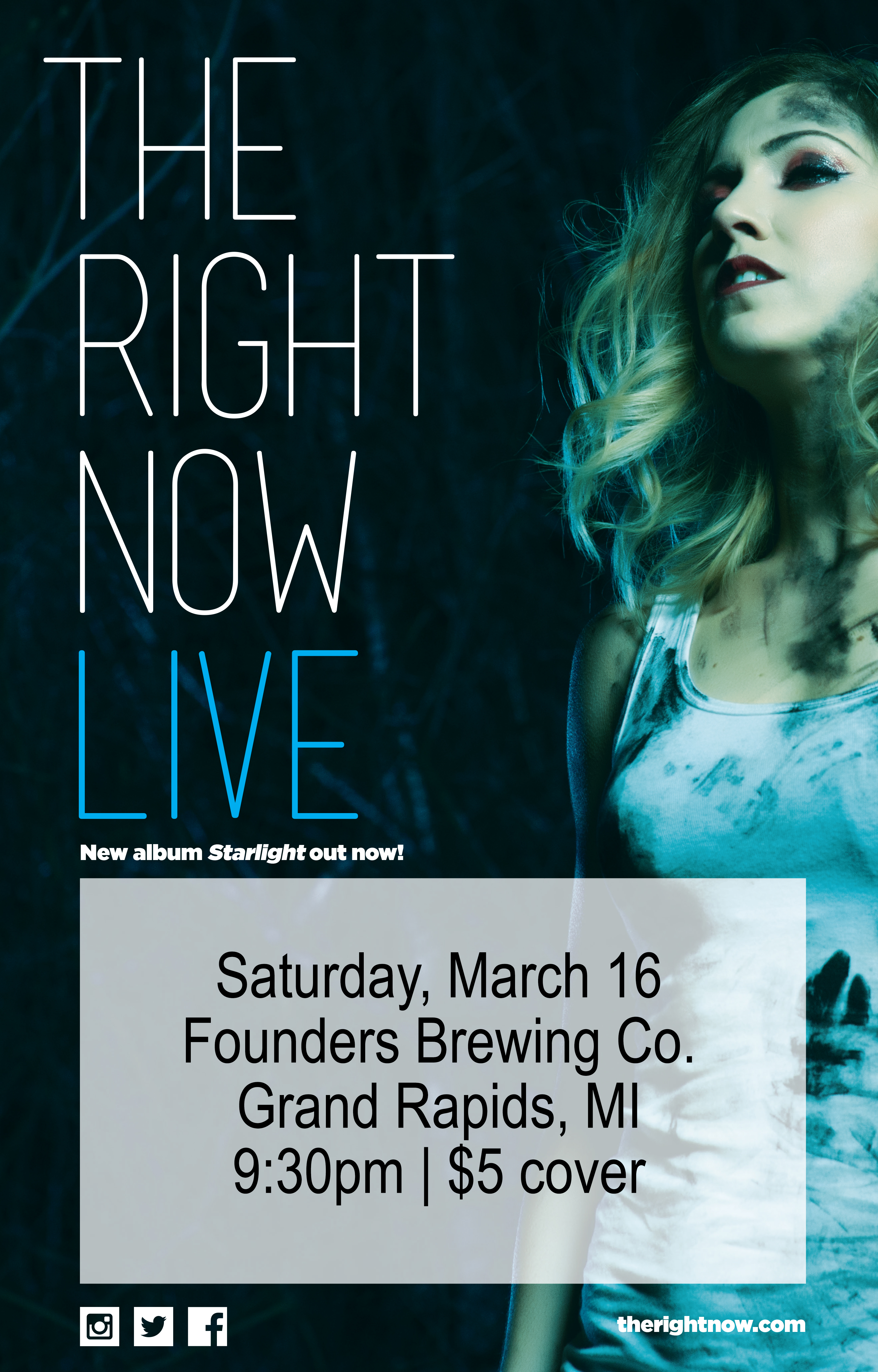 The Right Now event poster