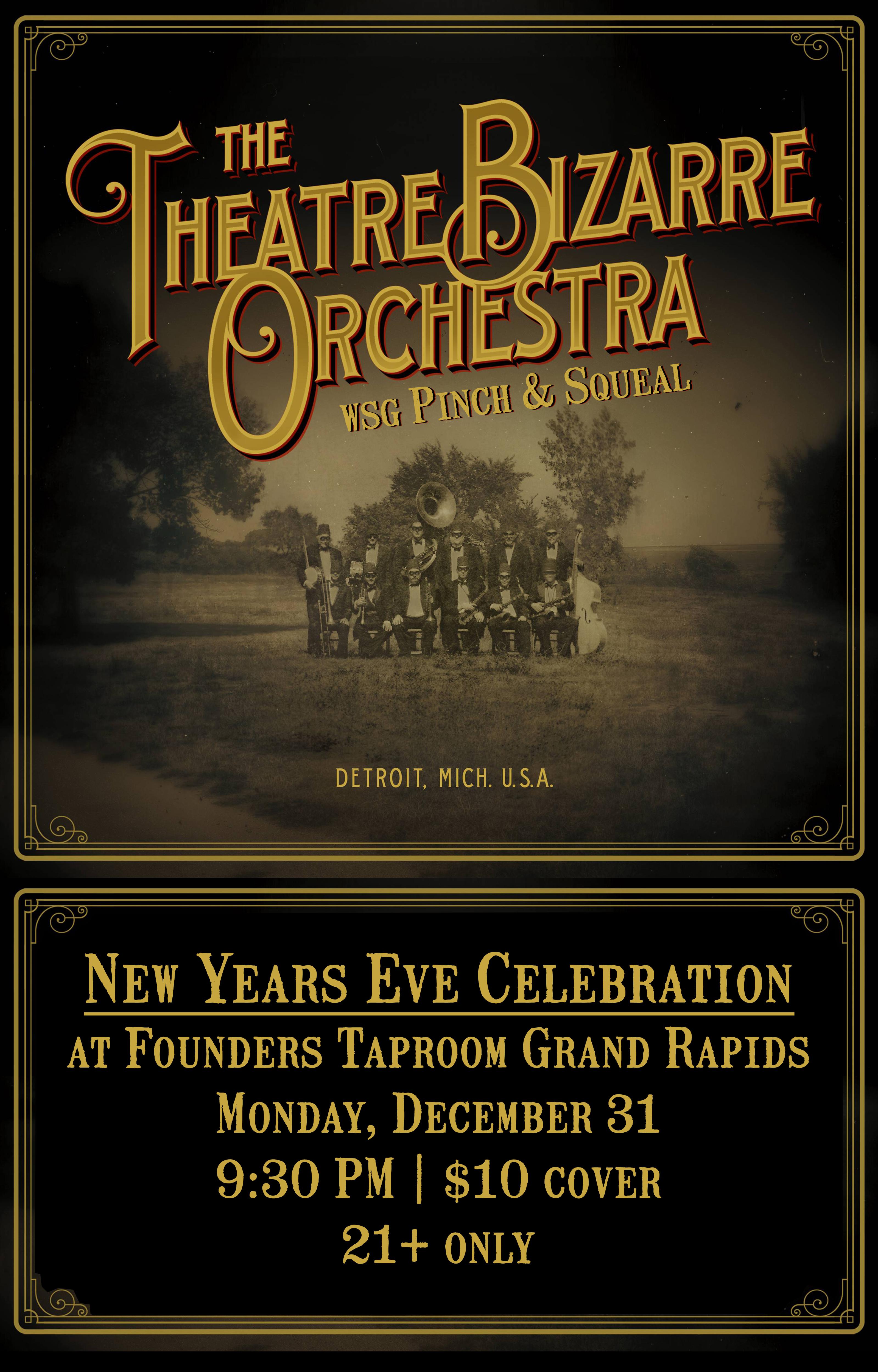 The Theatre Bizarre Orchestra event poster