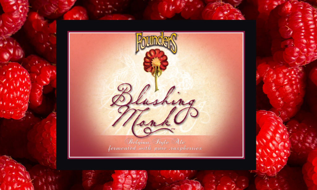 Founders Blushing Mink label with raspberries