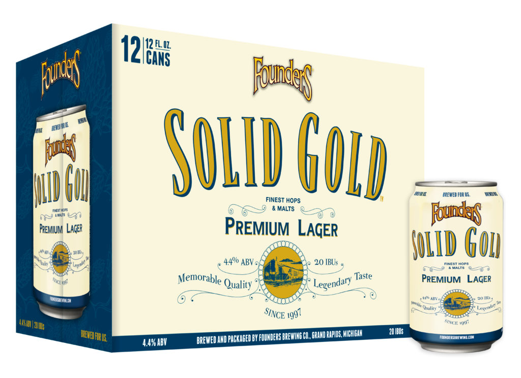 12 pack of Founders Solid Gold