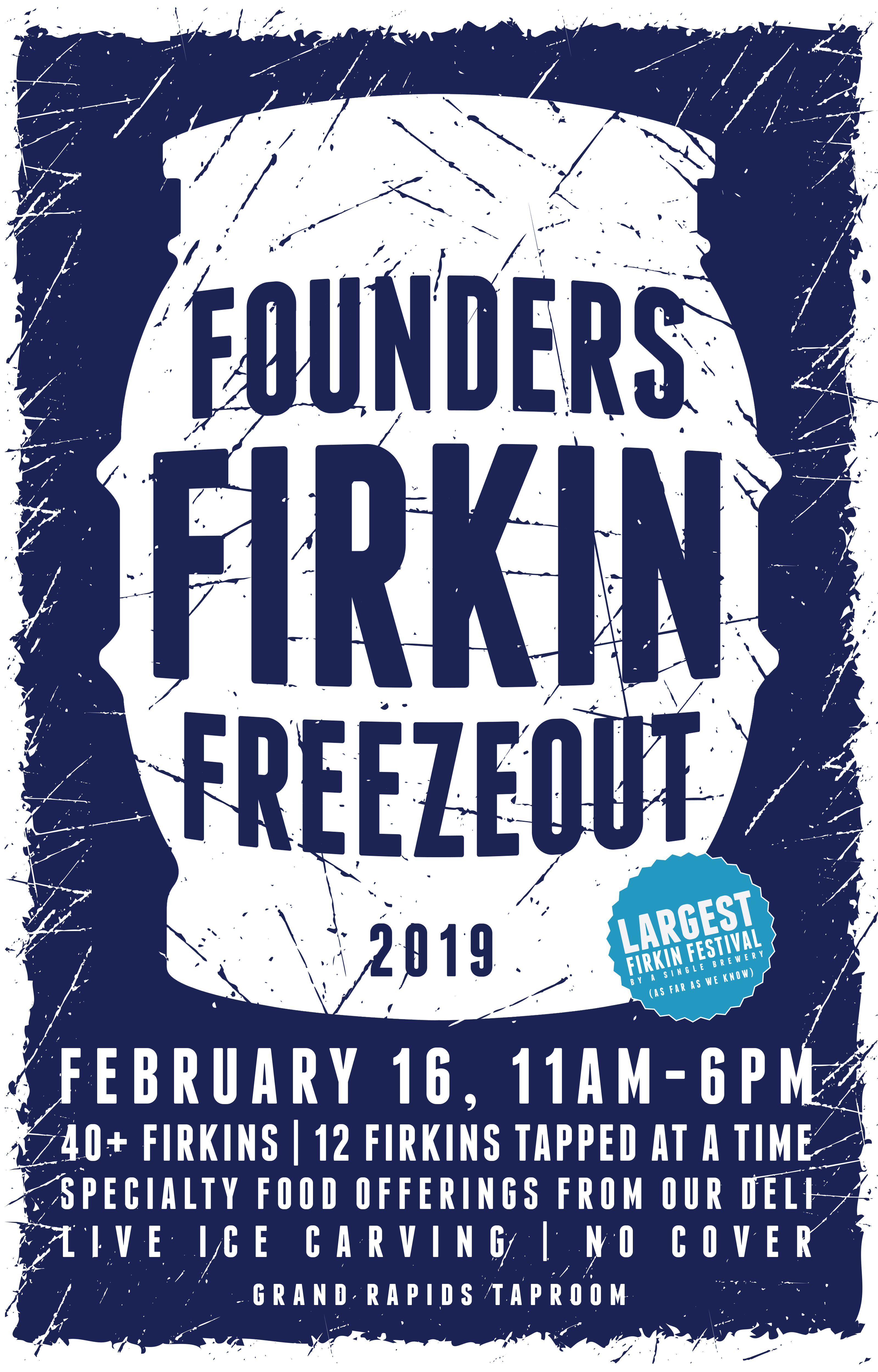Founders Firkin Freezeout 2019 event poster