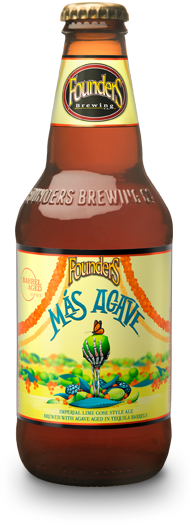 Bottle of Founders Más Agave