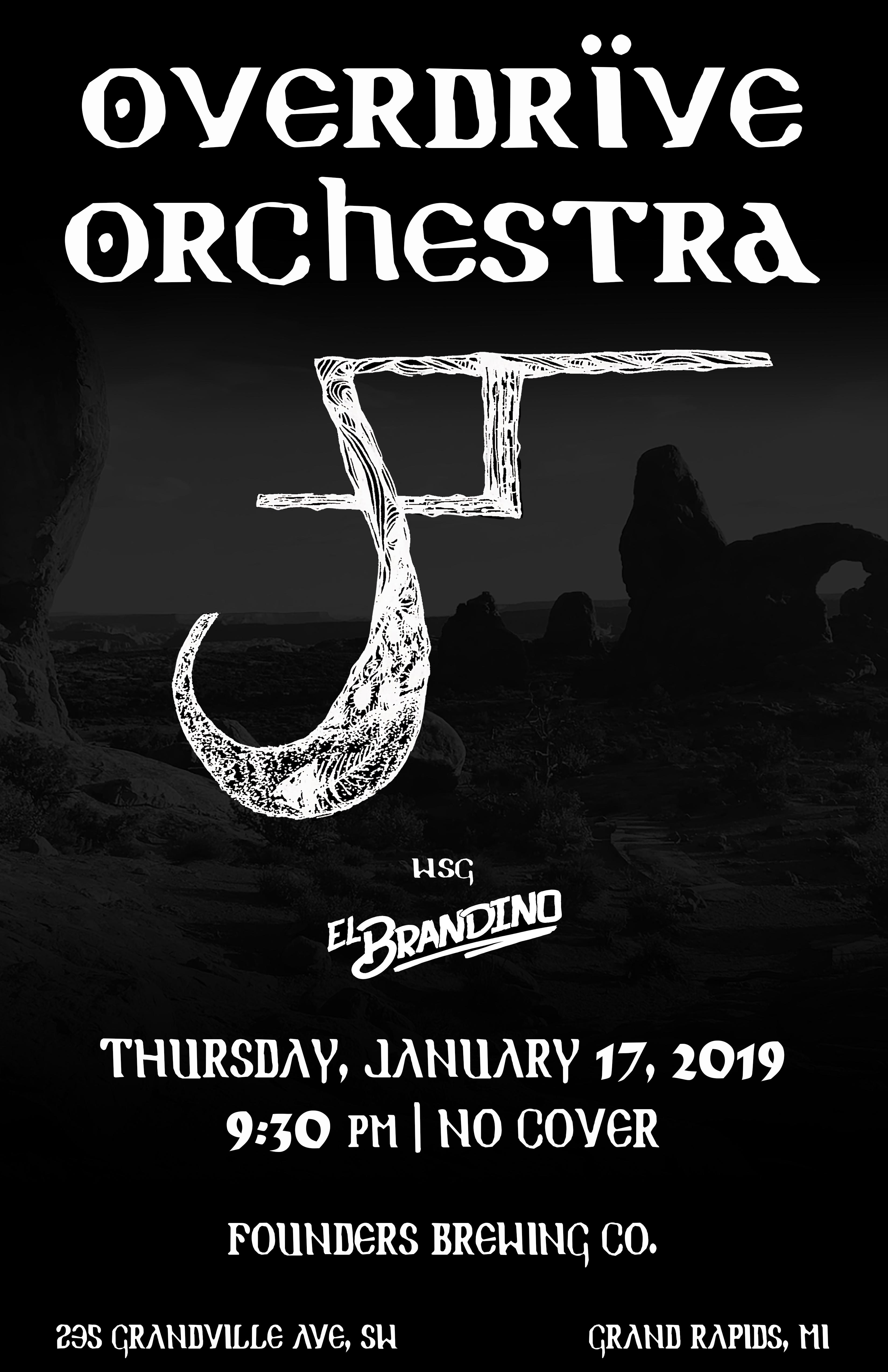 Overdrïve Orchestra event poster