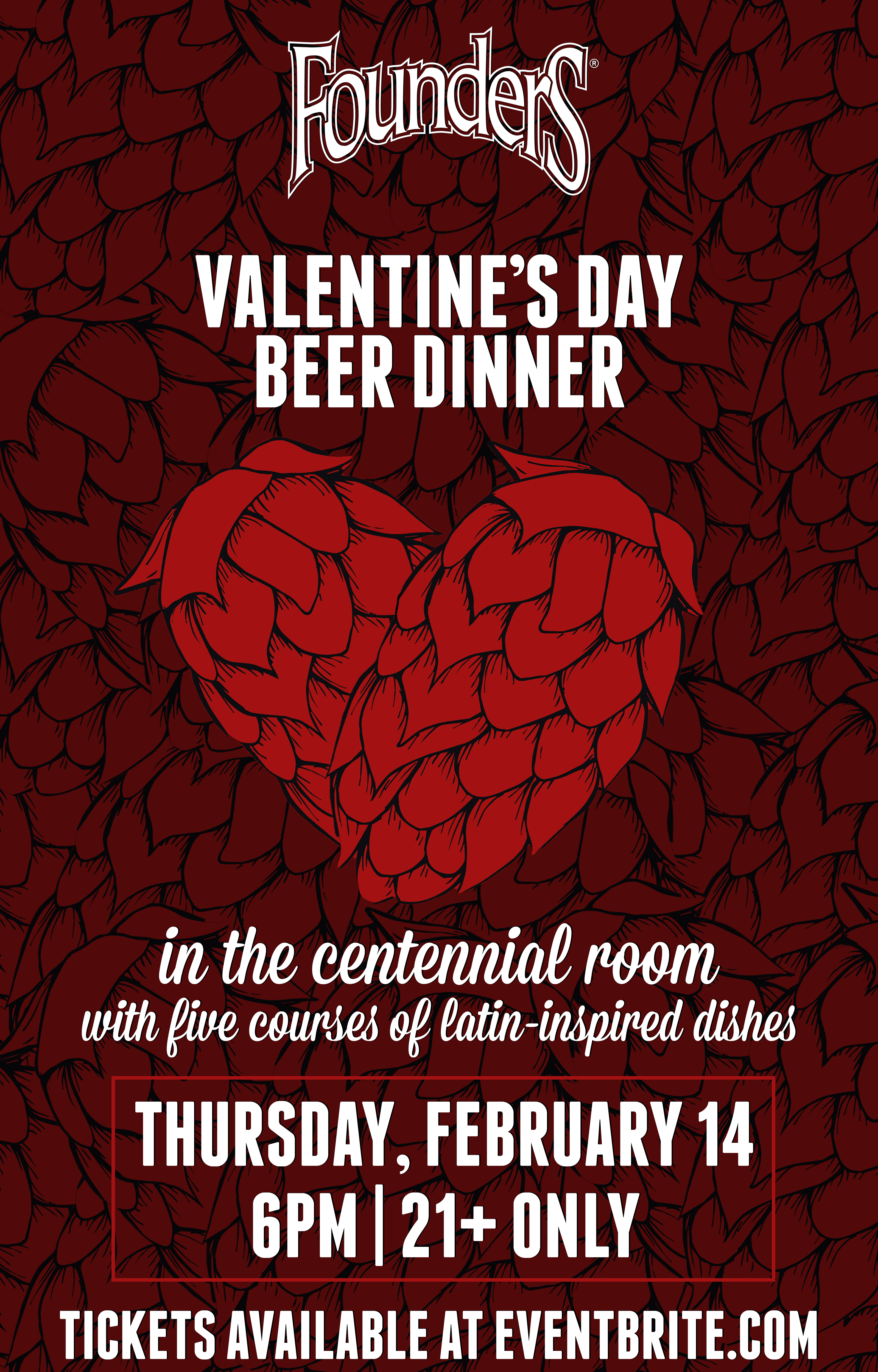 Founders Valentine's Day Beer Dinner