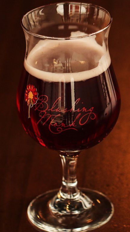 Beer glass of Founders Blushing Monk