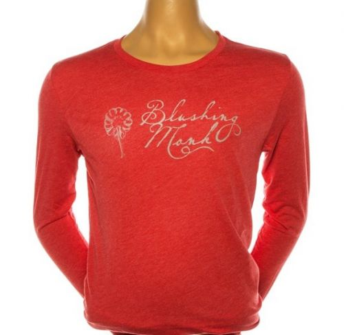 Red long sleeve Blushing Monk shirt