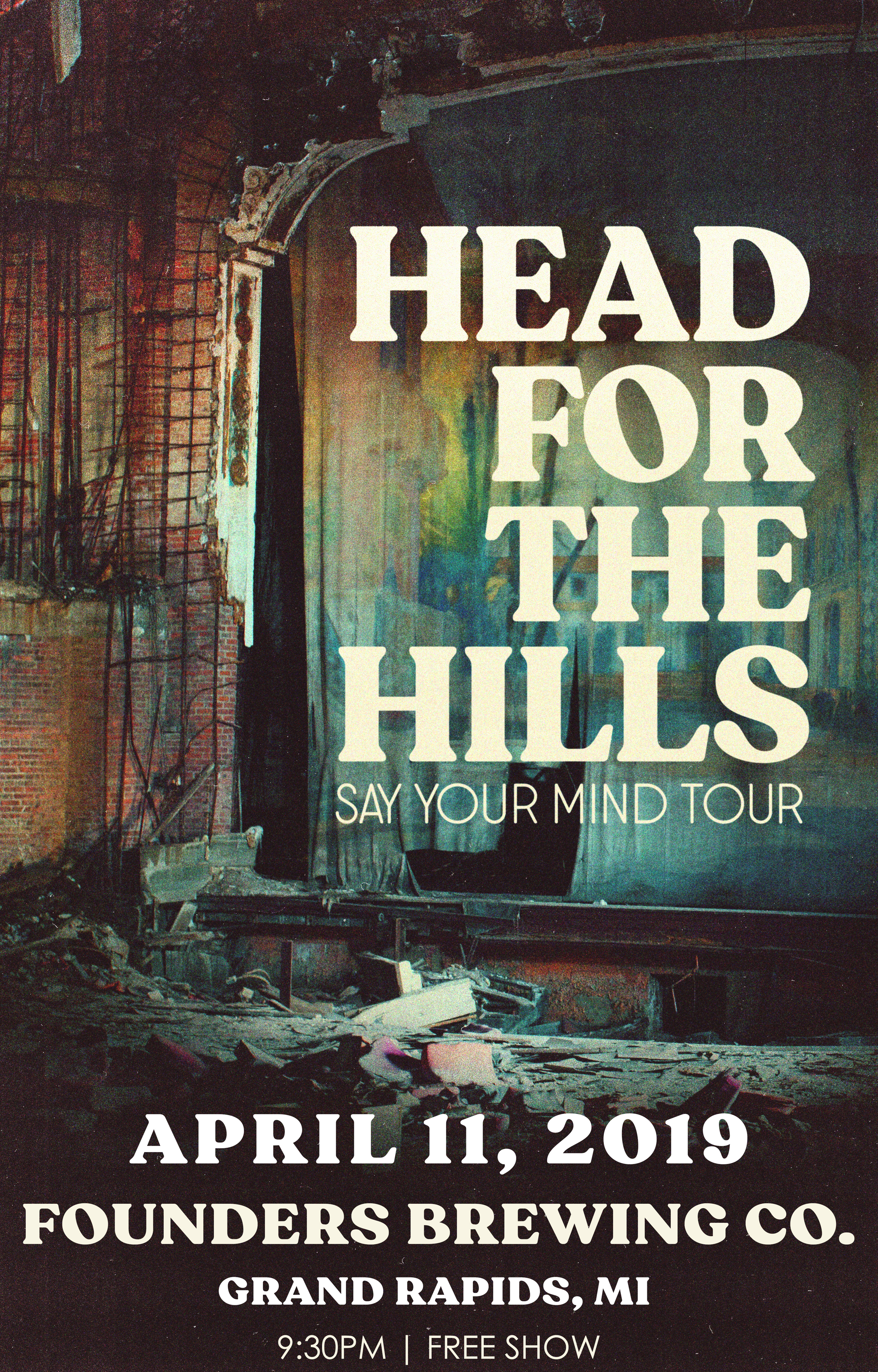 Head for the Hills event poster