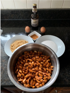 Ingredients for Founders Backwoods Bastard Cinnamon Roasted Almonds